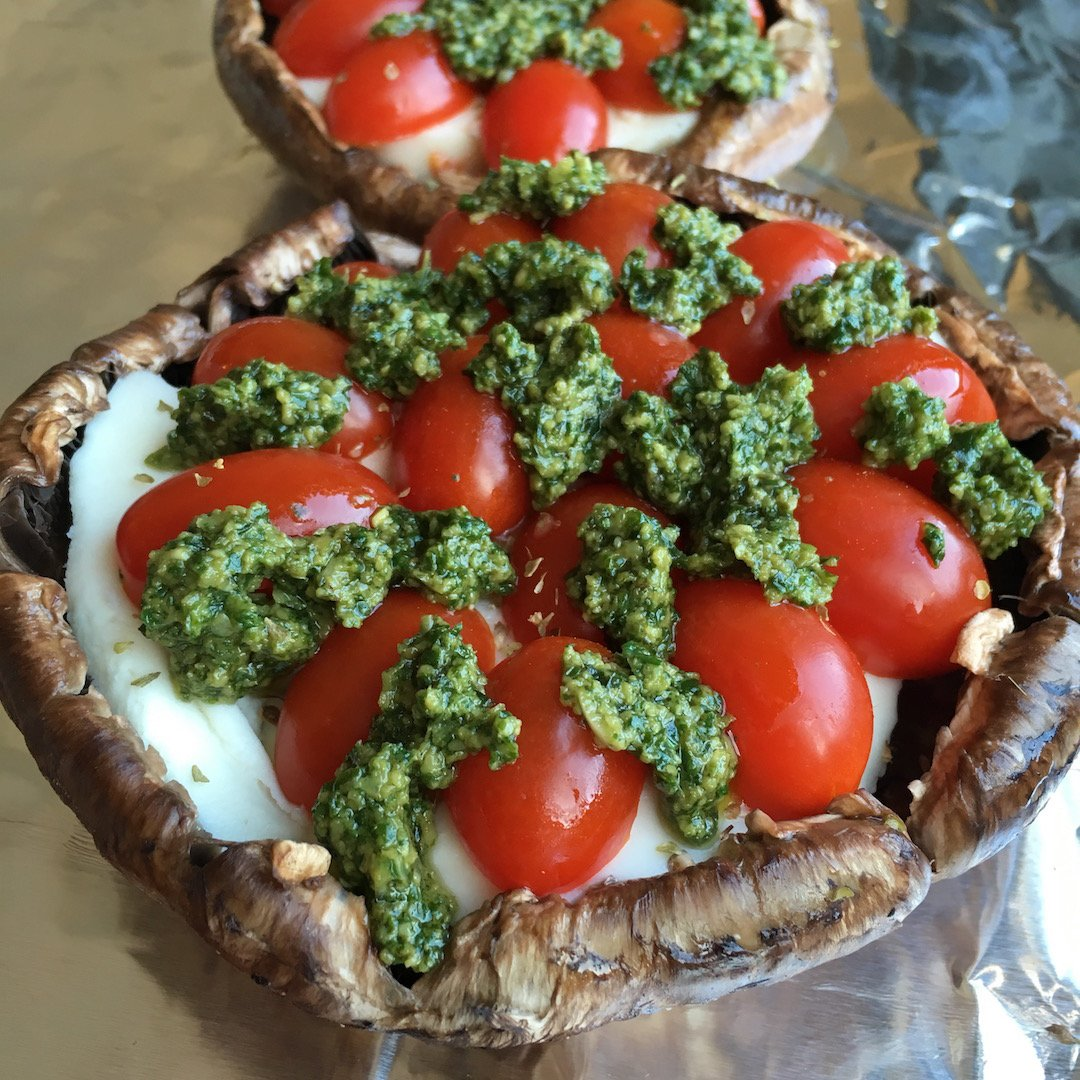 Mediterranean-Inspired Stuffed Portobello Mushrooms